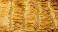 Réalisation de la tarte aux pommes à pâte fine à la Pâtisserie Noni Nona.