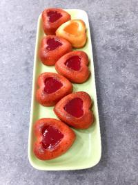 Réalisation des coeurs fondants à la fraise (ou poire/coing).
