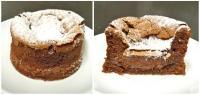 Réalisation du fondant chocolat noir (ou mi-cuit) à la Pâtisserie Noni Nona.
